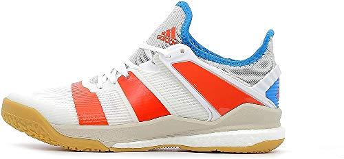 Adidas Stabil X, Zapatillas de Balonmano Niño, Blanco (Ftwbla/Rojsol/Azubri 000), 38 EU