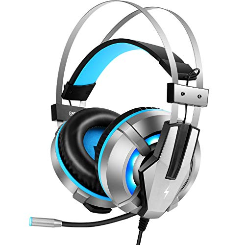 Fire-Boltt Gaming Headset for PS4, PC, Xbox One Controller, Nintendo Switch, Gaming Headphone with Adjustable Noise Cancelling Mic, LED Light, Soft Memory Earmuffs, Over-Ear Headphone for Gaming