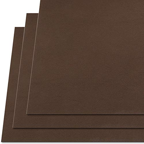 KYDEX Thermoform Sheet - (P1 Texture) - (.080' Gauge) - (12in x 12in Sheet) - (Chocolate Brown) - (3 Pack) - (for Holster Making & Hobby)