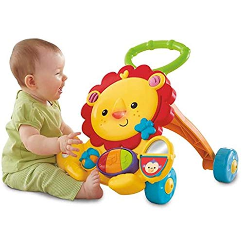 Lowest Price! Xinrangxin Multifunctional Music Slip Walker, Smart Learning Toy, Cute Lion, Education...