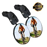 SGODDE Bike Mirror, 2pcs Bicycle Cycling Rear View Mirrors, Safe Rearview Mirror, Adjustable...