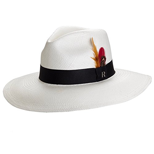 RACEU ATELIER Sombrero Panamá Ala Ancha Eva Blanco - Sombrero de Paja Estilo Fedora - Sombreros Panamá Original - Tejido a Mano
