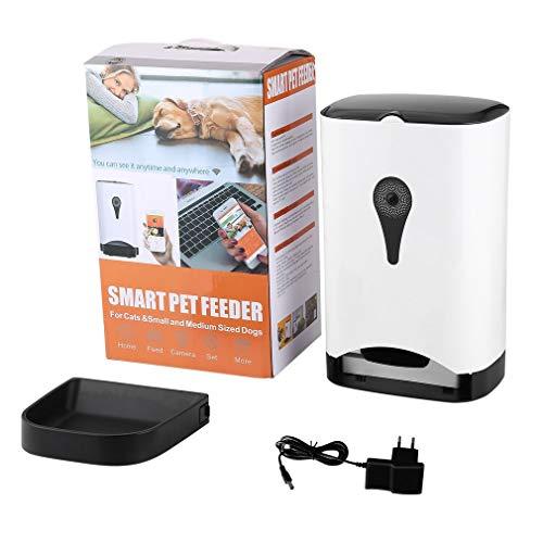 Slimme automatische voerbak voor huisdieren met draadloze camera voor app voor hond en kat Gecontroleerde zwart-witte EU-stekker