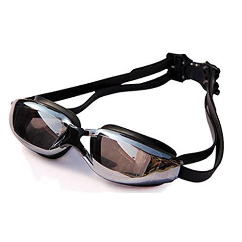 LSJA0 gafas natación impermeables profesionales anti-niebla espejo de natación ajustable Sin fugas para hombres y mujeres-negro_-4.5