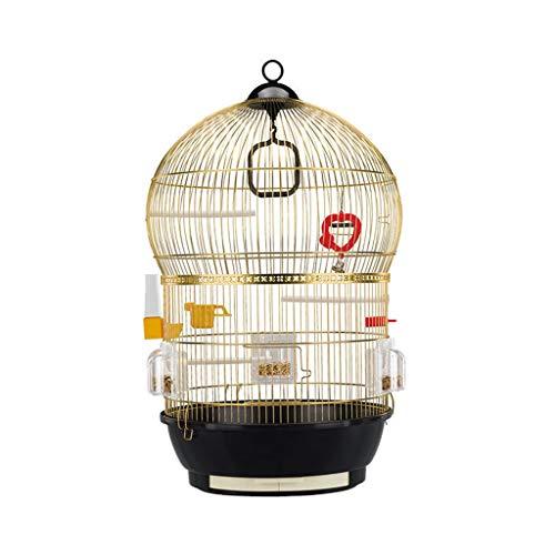 Ffshop Jaula para Pájaros Jaula de Loros de Gran tamaño Acero Inoxidable...