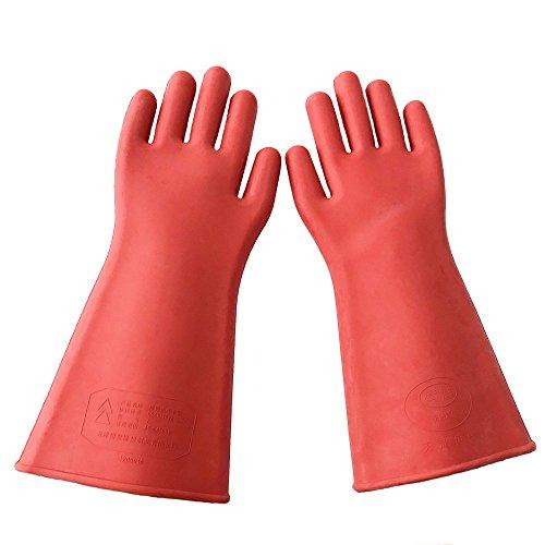 E2O Tech Isolierte Handschuhe aus Gummi, 12 kV, Sicherheits- / Arbeitshandschuhe für elektrische Arbeiten
