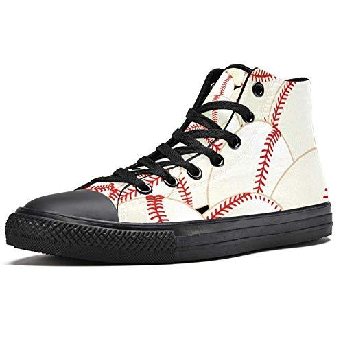 Lorvies Baseballschuhe aus Segeltuch, für Herren, Sportschuhe, - mehrfarbig - Größe: 45 EU