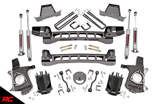 Rough Country 6' Lift Kit (fits) 1999-2006 Chevy Silverado GMC Sierra 1500 2WD | N3 Shocks | Knuckles | 23420