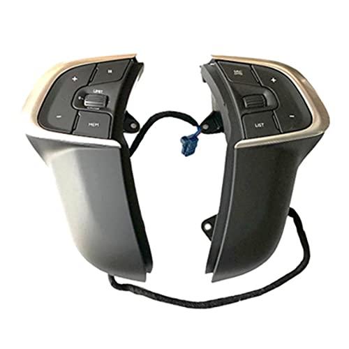 XINLIN Ruderude Nuevo botón de Volante multifunción Botón Control de Crucero Accesorios for automóviles Ajuste for Citroen C4L 98094657ZD 98115384ZD (Color : Black)