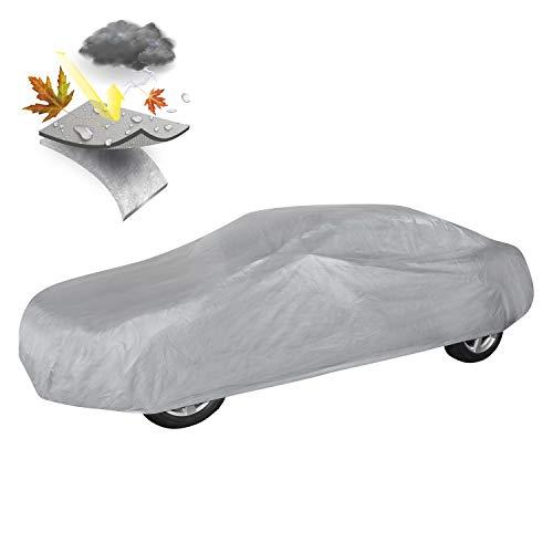 Walser 31012 Autoabdeckung Vollgarage Größe XL hellgrau, wasserdichte Ganzgarage, Staubdicht mit UV Schutz