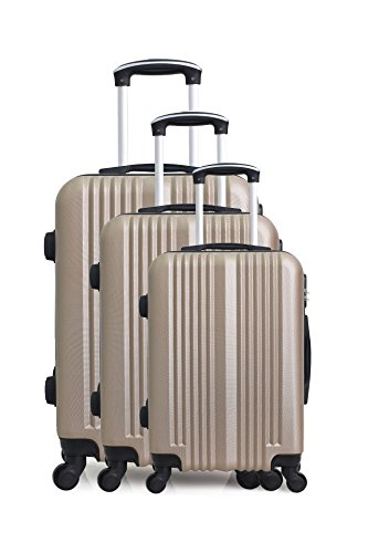 Hero Lipari Luggage Set, 76 cm, 194 liters, Beige (Champagne)