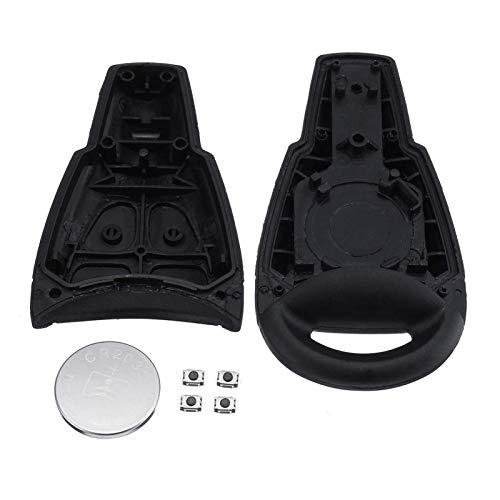 MEI - Carcasa para mando a distancia con 4 botones, color negro con micro interruptor + batería compatible con SAAB 9-3 9-5, instalación sencilla y el modelo es adecuado