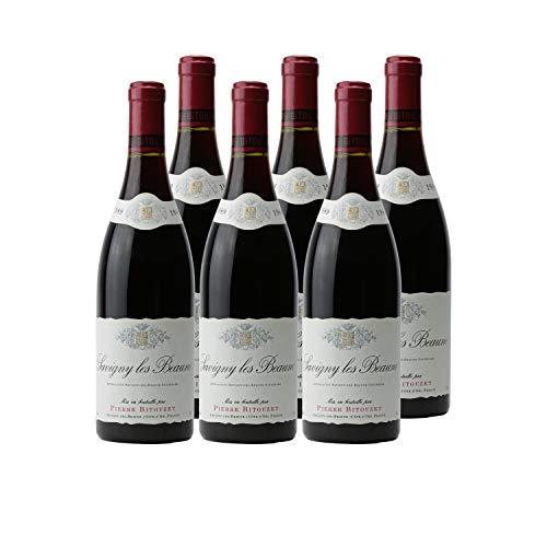 Savigny-lès-Beaune Rotwein 1989 - Pierre Bitouzet - g.U. - Burgund Frankreich - Rebsorte Pinot Noir - 6x75cl