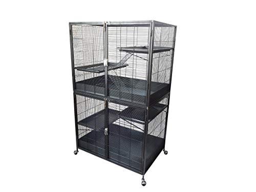 Zoo-Shop Nagerkäfig Rattenkäfig Maximus 94x63x158cm