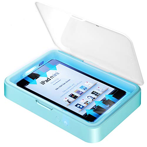 IFLOVE UV Box Handy Desinfektion Sterilisator Telefon Reiniger Desinfektor Aromatherapie Funktion Großer Kapazität für Smartphone iPad Mini