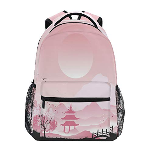 Mochila escolar estilo japonés primario mochila para niña niño Ukiyo-E 2010254