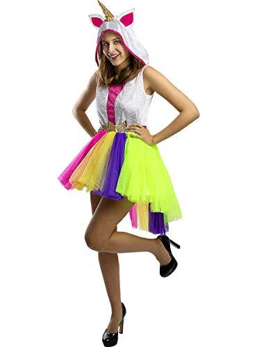 Funidelia | Disfraz de Unicornio para Mujer Talla S ▶ Originales & Divertidos - Color: Multicolor - Divertidos Disfraces y complementos para Carnaval y Halloween