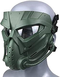 Wwman Airsoft/Wielersport Masker voor Buitengebruik, CS Cosplay Halloween Slijtvast Tactisch Volgelaatsmasker met Anticond...