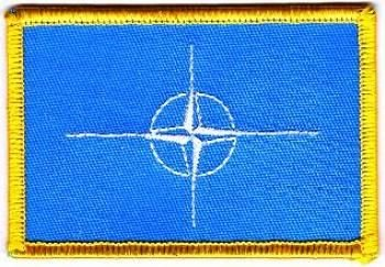 Flaggen Aufnäher Patch NATO Fahne Flagge NEU