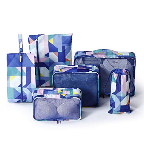 ROGF Travel Storage Bag Cubes Travel Luggage Packing 6 Set Packing Organizers For travel