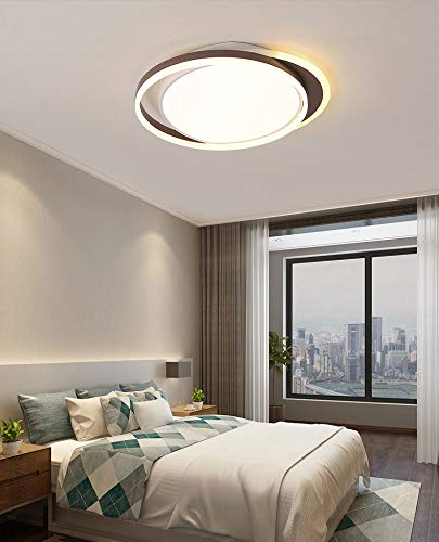S-L Lámpara de techo LED de montaje en descarga, 26W 42W 3000K ~ 6000K 3 Color Dimmable Lighting, Luces de techo redondas modernas Ajuste para dormitorio Cocina Salón de sala de estar (tamaño : 26W)