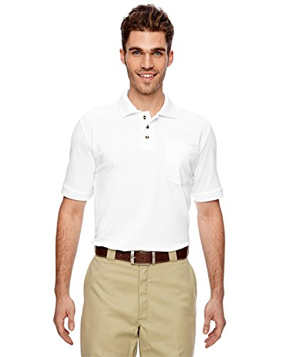 Dickies - - LS404 Herrenindustrie Polo-Shirt, Large, White