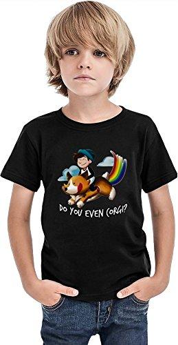 Styleart Do You Even Corgi - Camiseta para niño, Negro, 2-3 Años