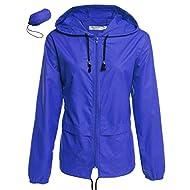 Women's Rain Jacket Lightweight Active Outdoor Waterproof Packable Hooded Raincoat