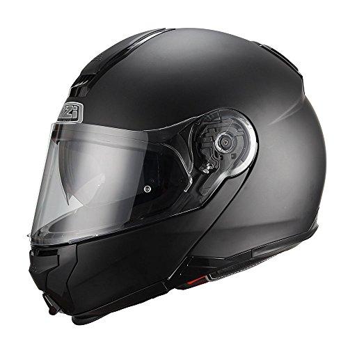 NZI Combi Duo kask motocyklowy z wysokim klapką, matowy czarny, rozmiar L