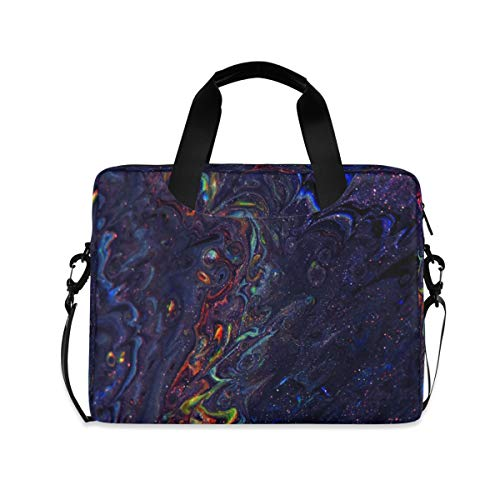 Deep Abstract Galaxy 16 inch Laptop Shoulder Bag Travel Laptop Briefcase Carrying Messenger Bags
