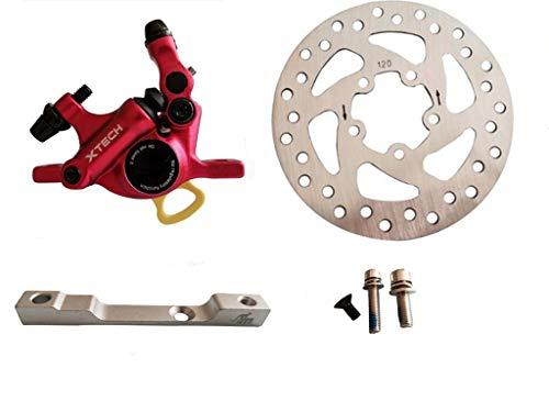 SPEDWHEL Actualización Xtech de aleación de aluminio freno hidráulico para Xiaomi M365/Pro Scooter eléctrico M365 frenos de disco hidráulicos piezas de pistón (rojo)