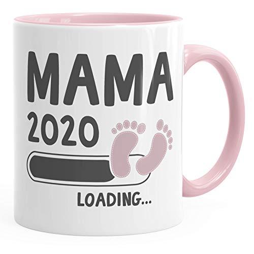 Kaffee-Tasse Mama 2020 loading Geschenk-Tasse für werdende Mama Schwangerschaft Geburt Baby Tee-Tasse MoonWorks® rosa unisize