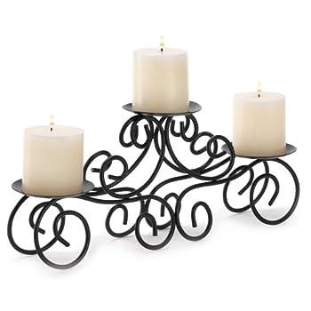 Gifts & Decor Wedding Centerpiece Iron Candle Holder Black