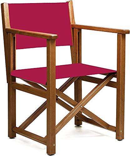 Silla plegable, silla plegable de madera para terraza coñac y jardín, ideal para uso al aire libre,Red