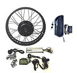 48V1000W Hub Motor EBike Bicicleta ELÉCTRICA KIT DE CONVERSIÓN 4.0 Fat Rim + LCD + Tire Theebikemotor (24' x 4.0 Fat Front Wheel)