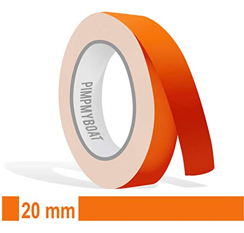 Siviwonder Zierstreifen orange matt in 20 mm Breite und 10 m Länge für Auto Boot Jetski Modellbau Klebeband Dekorstreifen