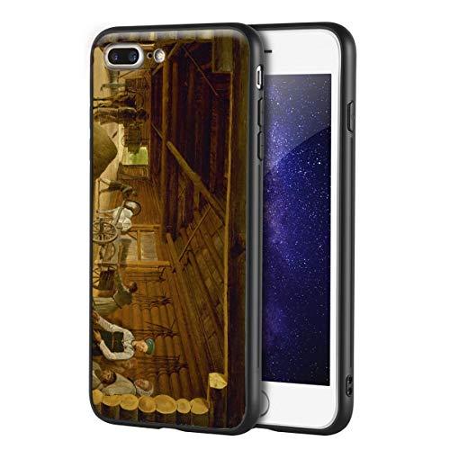 Berkin Arts Alexey Venetsianov Custodia per iPhone 7 Plus&iPhone 8 Plus/Custodia per Cellulare Art/Stampa giclée UV sulla Cover del Telefono(Trilla de Trilla)