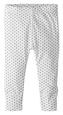 Hanna Andersson First Layers Wiggle Pants in Organic Cotton Hanna White/Soft Black -75