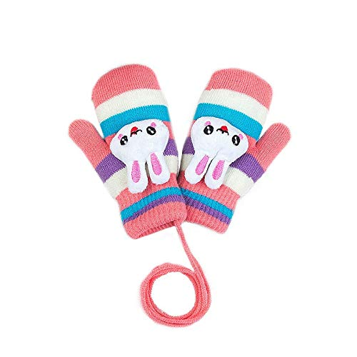 YXHUI Nette Kinder-Cartoon warme Handschuhe Mädchen Jungen verdicken Crochet Lanyard...