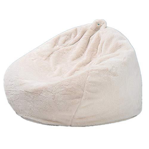 MOMIN Silla Chill Sack Bean Bag Gran Bolsa de Frijoles Cubierta de la Silla Interior Perezoso Artificial sofá de Piel de Conejo para niños Adultos 70 * 80 Funda de Frijol