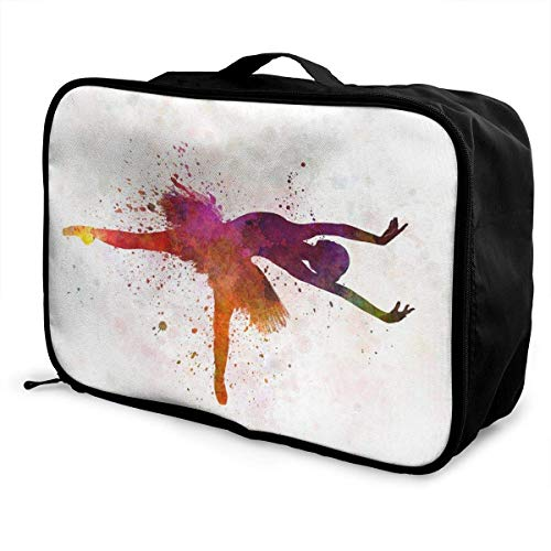 Bolsas de Maleta Ballet Dancer Lightweight Waterproof Large Travel Duffel Bag Rolling Packable Extra Overnight Luggage Bags For Camping Gym Bags For Men/Women Overnight Bag