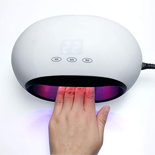 FASFSAF 48W UV LED Lámpara Secador De Uñas para Todo El Esmalte De Gel Promoción De Bajo Precio Lámpara Portátil Luz Solar Secado Rápido Smart Timing Nail Art Equipmen,M