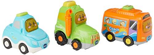 VTech Toot Drivers 3 Car Pack Everyday Vehicles Giocattolo per la Scuola Materna, Multicolore, Box...