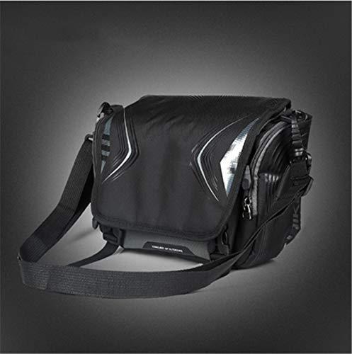 MissLi Bolsa Impermeable para Bicicleta, Manillar De Gran Capacidad, Bolsa De Tubo Frontal, Bolsillo para Bicicleta, Mochila para Hombro, Accesorios para Bicicleta (Color : Black)