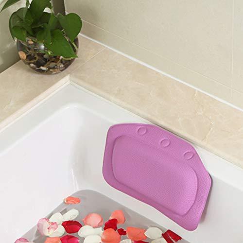 Bath Oreiller, Ergonomique Accueil Baignoire Spa Coussin pour Appuie-Tête, du Cou Et Le Dos De Soutien pour Jacuzzi & Hot Tubs,Violet