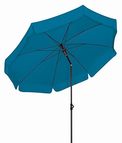 Doppler Absolut wetterfester Gartenschirm Sunline 150 Petrol, UV-Schutz 50 Plus und Knicker,