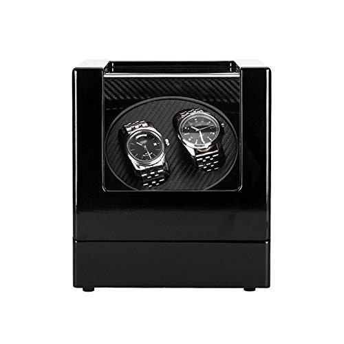 ZNND Watch Enrollador Reloj Doble para Relojes Automáticos, 4 Configuración Modo Rotación, Motor Extremadamente Silencioso, para Relojes Todos Los Tamaños (Color : Black, Size : A)