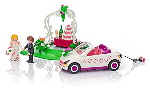 Playmobil 6871. Pareja de novios con coche y tarta nupcial. Especial tarta...