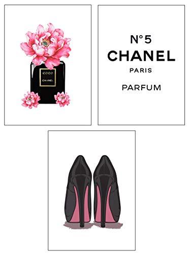 4Good Epictures Premium Poster als Wandbild   Bilder Set Fuer Moderne Wohnzimmer Deko/Wandbild Schlafzimmer deko Coco Chanel/Dior   pefekte Wandbilder ohne Rahmen (Coco Chanel, A4)
