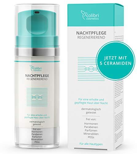 Nachtpflege mit Retinol und Hyaluron - anti-aging feuchtigkeitspflege für Männer und Frauen - 100ml von colibri cosmetics - Naturkosmetik made in Germany